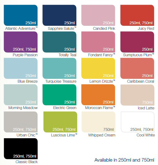 Old Dulux Endurance Paint Colours